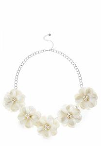 Statement Flower Bib Necklace