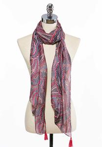 Woven Paisley Oblong Scarf