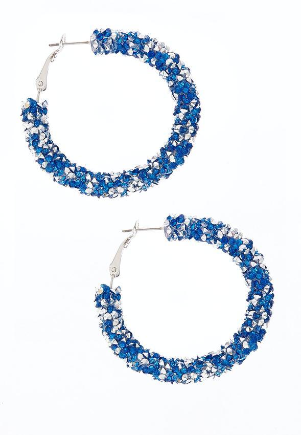 Glitter Hoop Earrings
