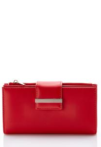 Multi Compartment Red Wallet
