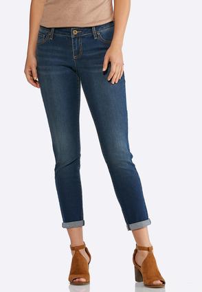 Dark Wash Skinny Ankle Jeans   Tuggl