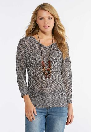 Midnight Marled Pullover Sweater
