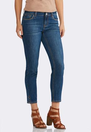 Stud Embellished Ankle Jeans   Tuggl
