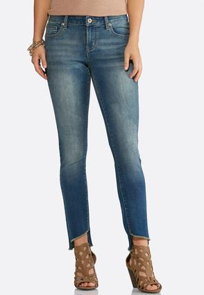Curved Step Hem Skinny Jean | Tuggl