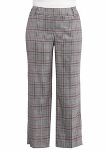 Plus Size Plaid Trouser Pants