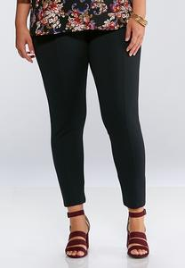 Plus Size Elastic Waist Ponte Leggings
