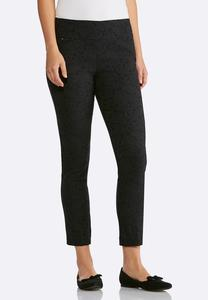 Jacquard Slim Ankle Pants