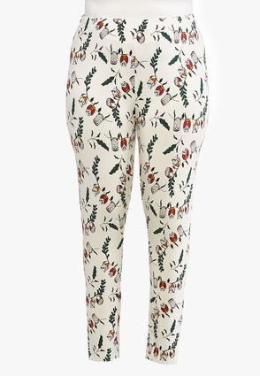 Plus Size Wise Owl Leggings