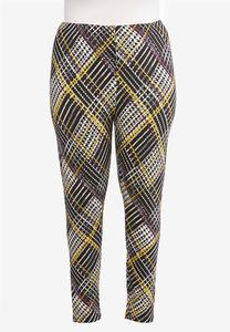 Plus Size Multi Houndstooth Leggings