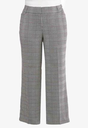 Plus Petite Plaid Trouser Pants | Tuggl