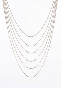 Multi Layer Gold Bar Necklace
