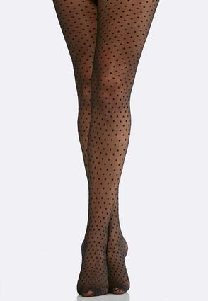 Plus Size Polka Dot Tights