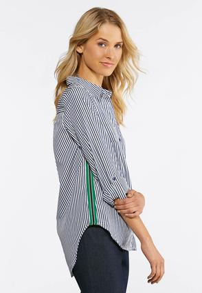 Embellished Stripe Shirt