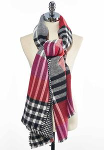Houndstooth Plaid Blanket Scarf