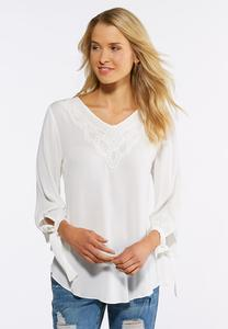 Lace Bib Poet Top