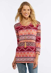 Kaleidiscope Multi Stripe Top