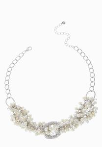 Faux Pearl Twist Chain Necklace