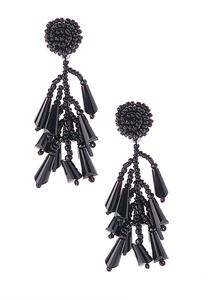 Seed Bead Shaky Tassel Earrings