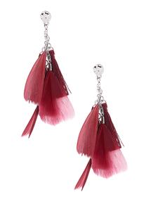 Tasseled Feather Earrings