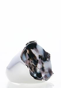Marbled Resin Cocktail Ring