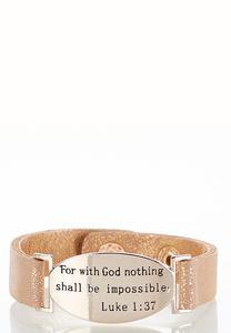 Inspirational Rose Gold Snap Bracelet
