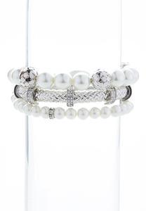 Pearl Weave Stretch Bracelet Set
