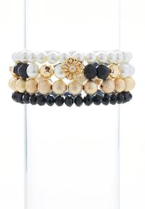 Mixed Pearl Beaded Stretch Bracelet Set