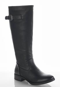 Embossed Back Riding Boots