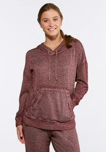 Plus Size Hooded Fleece Sweatshirt