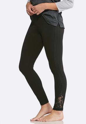 Lace Inset Leggings | Tuggl