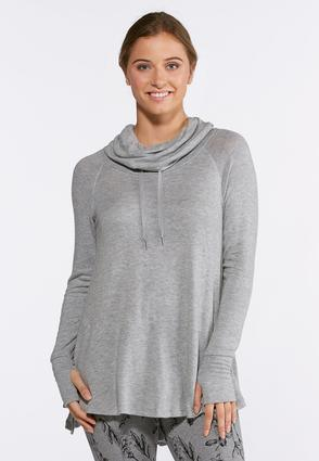 Gray Hacci Cowl Neck Tunic