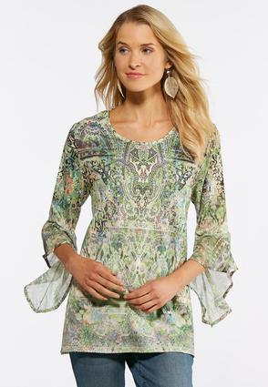 Bouquet Bell Sleeve Top | Tuggl