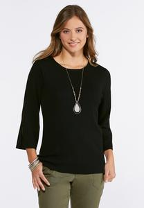Solid Ribbed Pullover Sweater