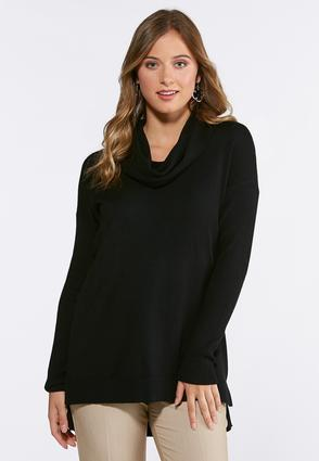 Plus Size Ribbed Cowl Neck Sweater