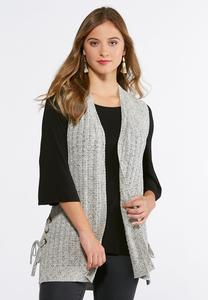 Plus Size Grommet Side Sweater Vest