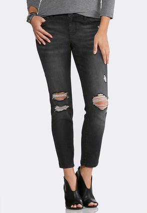 Distressed Black Wash Jeans