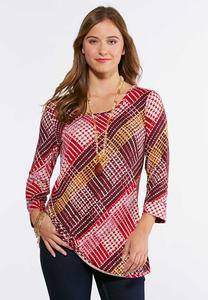Scattered Checkered Swing Top
