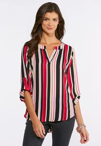 Pink Striped Pullover Tunic