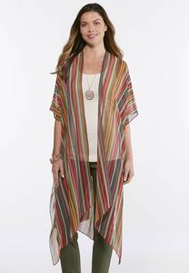 Bright Striped Ruana