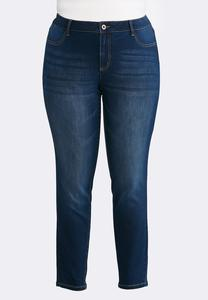 Plus Size Classic Dark Wash Jeggings