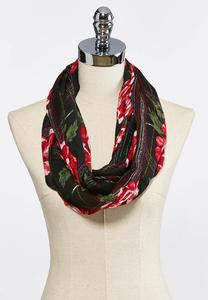 Floral Plaid Infinity Scarf