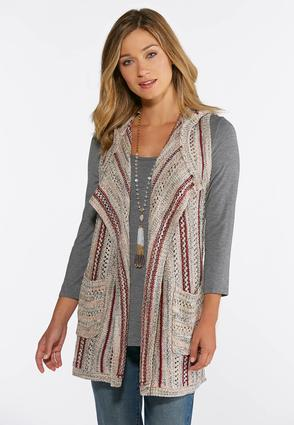 Plus Size Pointelle Hooded Vest at Cato in Brooklyn, NY   Tuggl