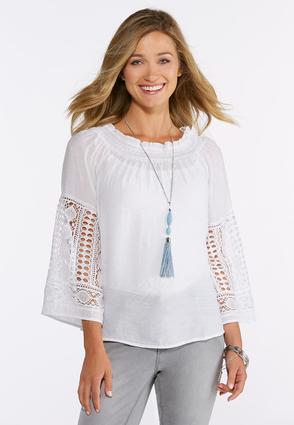 Crochet Sleeve Top | Tuggl