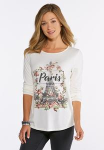 Plus Size Textured Waffle Paris Top