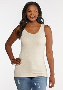 Heather Knit Solid Tank
