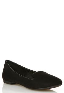 Patent Trim Smoking Flats