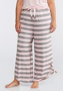 Plus Size Striped Sleep Pants