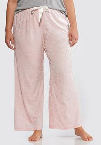 Plus Size Crushed Velvet Sleep Pant