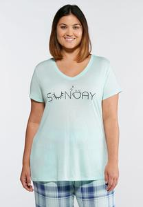 Plus Size Sunday Separate Tee