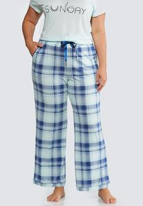 Plus Size Charming Plaid Sleep Pant